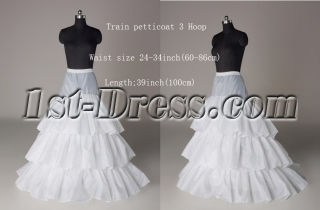 3 Layers Wedding Dress Petticoat with Train