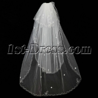 4 Layers Wedding Veil for Spring