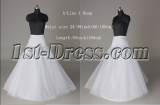 A-line 1 Hoop Petticoat for Bridal Gowns