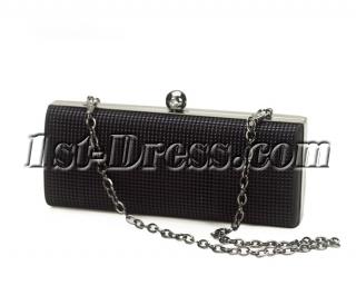 Black Beads Evening Handbag