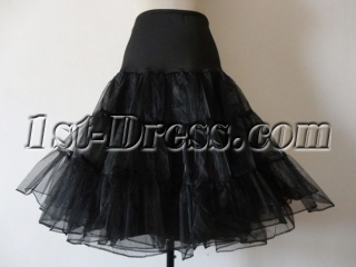 Black Layers Organza Short Cocktail Dress Petticoats