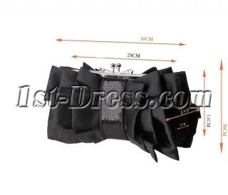 Black Satin Formal Handbag
