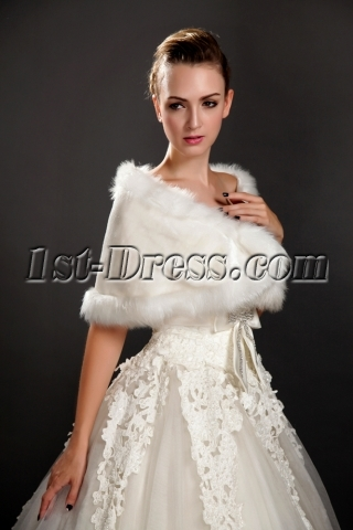 Cheap Winter Faux Fur Bridal Wraps