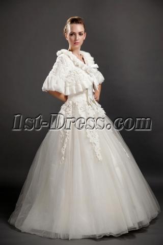 Classical Ruffled Faux Fur Bridal Wraps