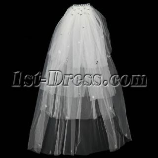 Diamond 4 Layers Wedding Veils