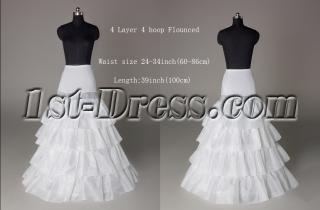 Discount 4 Layers Drop Waist Wedding Dress Petticoats