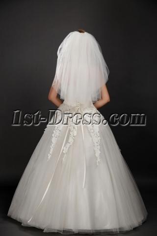 Elegant 3 Layers Cut Edge Short Bridal Veil