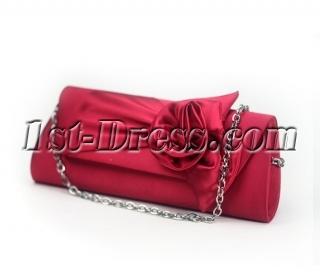 Elegant Rose Satin Bridal Prom Evening Party Clutch Bag