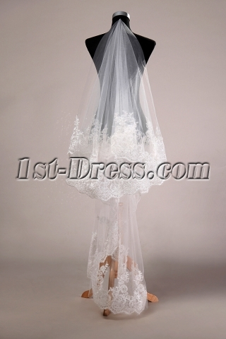 Fashionable Lace Bridal Veils