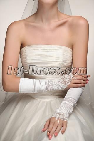 Fingerless Middle Length Wedding Gloves