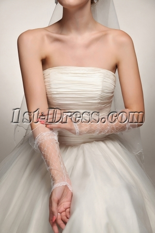 Fingerless Western Wedding Gloves