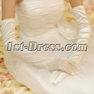 Long Fingertips Gloves Wedding for Winter