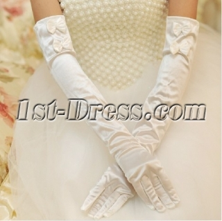 Long Opera Evening Gloves with Bows