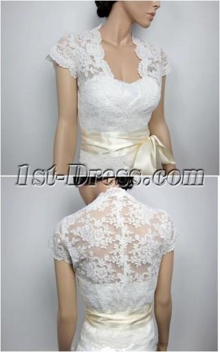 Luxurious Cap Sleeves Lace Wedding Jacket