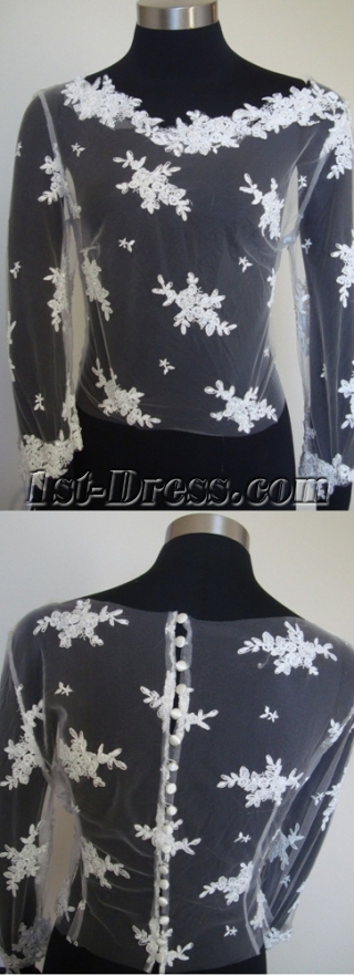 Modest Long Sleeves Wedding Jacket