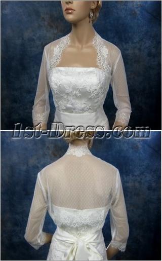 Popular 3/4 Sleeves Short Lace Jacket