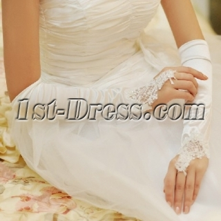 Pretty Elbow Length Fingerless Lace Gloves