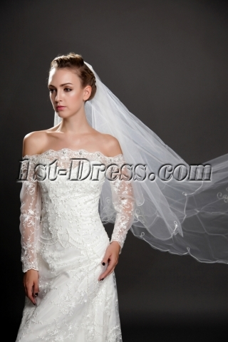 Romantic 2 Layers Long Organza Wedding Veil