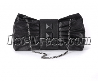 Romantic Bow Black Cocktail Party Handbag