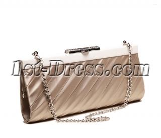 Romantic Champagne Satin Clutch Handbag