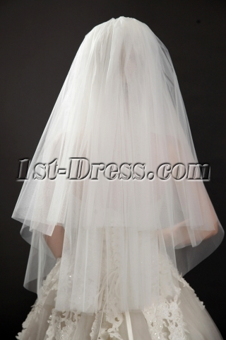 Romantic Double Layer Illusion Tulle Blusher Wedding Veil