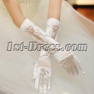 Romantic Ivory Elbow Wedding Gloves