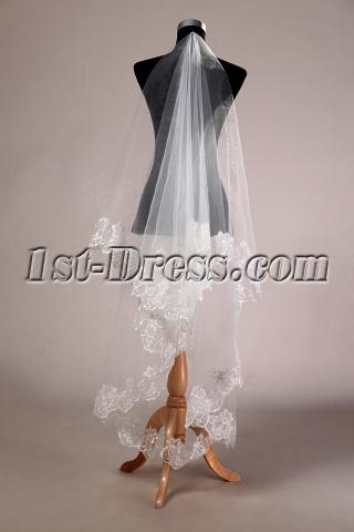 Romantic Lace Finger-tip Bridal Veil