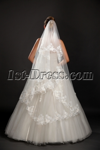 Romantic Mid-length Lace Wedding Veils