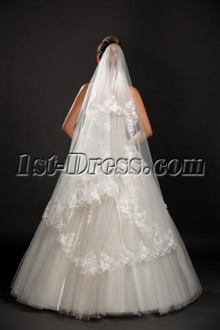 Romantic Mid-length Lace Wedding Veils