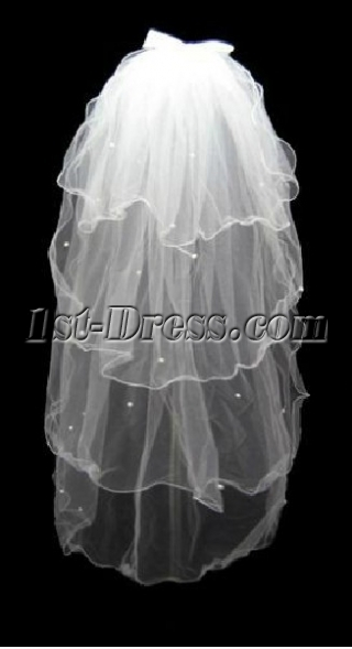 Ruffled 4 Layers Wedding Veils
