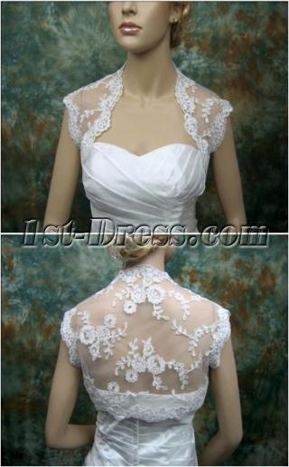 Simple Cap Sleeves Lace Wedding Bolero