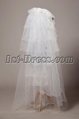 Stunning Floor Length Bridal Veil