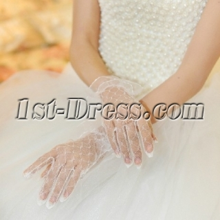 Transparent Voile Fingertips Bridal Gloves