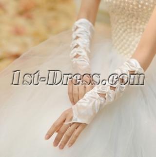 Unique Fingerless Bowed Wedding Gloves