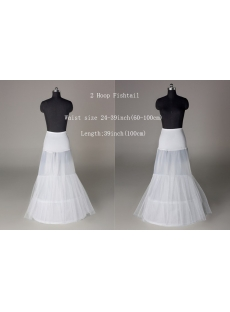 2 Hoops Mermaid Wedding Dresses Petticoat