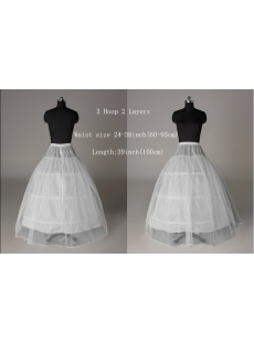 2 Layers 3 Hoop Princess Wedding Dresses Petticoats