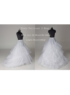 3 Hoops Layers Petticoats for Wedding Dresses with Train