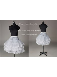 3 Layers Short Prom Dresses Petticoats