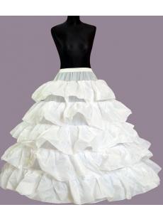 4 Hoop 5 Ruffled Bridal Gown Petticoats