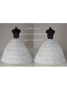6 Hoop Ball Gown Wedding Dress Petticoat On Sale