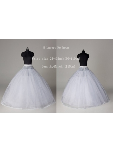 Affordable 8 Layers Petticoat for Ball Gown Wedding Dresses