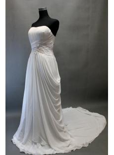 Beach Sweetheart Chiffon Bridal Gown for Mature