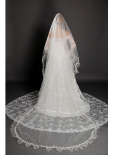 Best Organza Ruffle Cathedral Wedding Veils