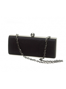 Black Beads Evening Handbag