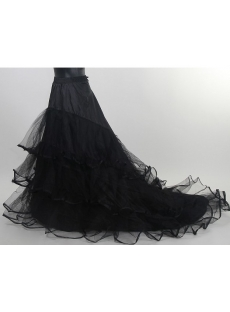Black Petticoats with Train