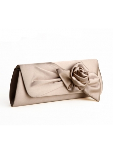 Champagne Rose Evening Clutch Purse Bag