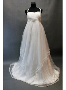 Charming Ivory Pregnant Wedding Dress with Lace Edged