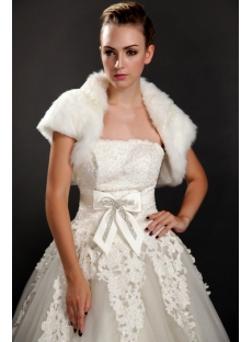 Charming Short Faux Fur Wedding Boleros