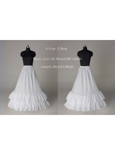 Cheap 2 Layers A-line Wedding Gowns Petticoat