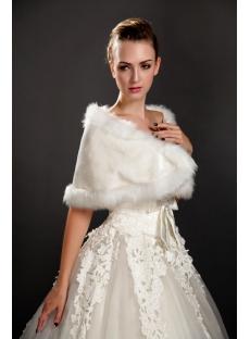Cheap Winter Faux Fur Bridal Wraps